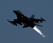 An F-16 jet fighter takes off from Nato airbase in Aviano, northern Italy