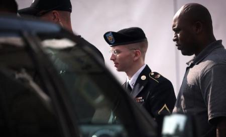 Bradley Manning on trial.  Source: Slate