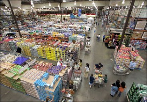 Costco's stores are no-frills