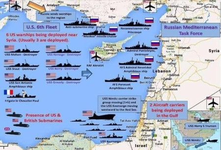 Naval standoff in September, 2013.  Source: Zero Hedge