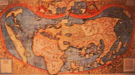 European map of the world, 1507