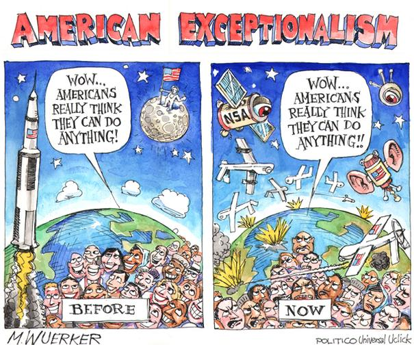 what is american exceptionalism In its classic forms, american exceptionalism refers to the special character of the  united states as a uniquely free nation based on democratic ideals and.