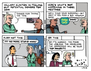 What's Not Happening In Hillary's Meetings