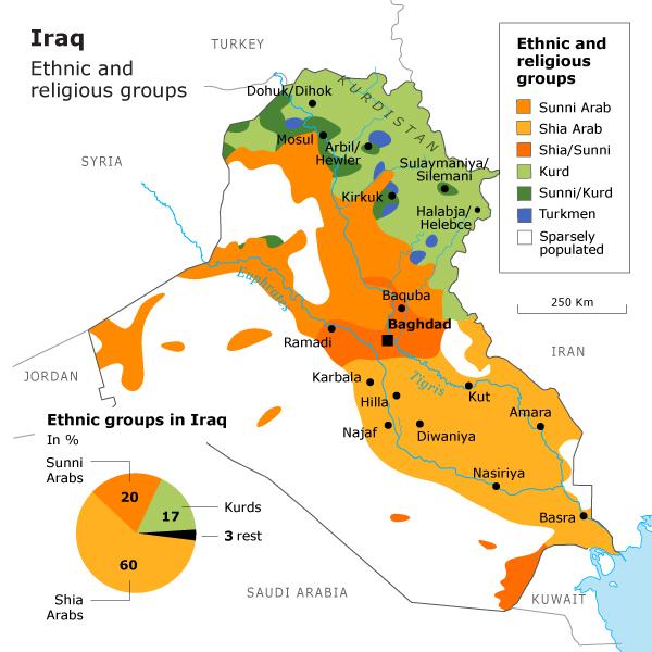 Iraq Heading For Yugoslaviatype Breakup Phil Ebersoles Blog - Religion map of the world 2013