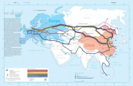 Proposed Eurasian rail network