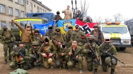 The Azov battalion, a Ukrainian militia fighting separatists