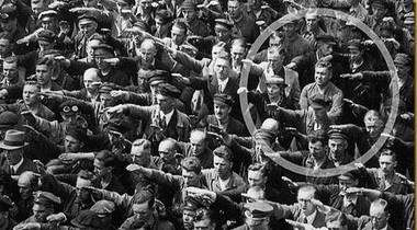 A German in 1936 who did not raise his hand.