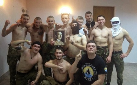 Azov battalion of the Ukrainian army.  Click to enlarge