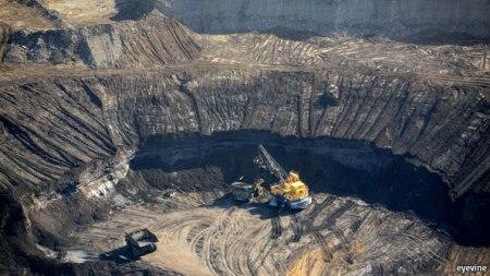 Alberta tar sands.  Source: The Economist