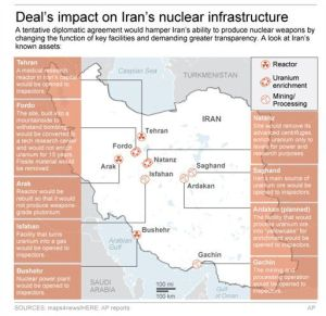 iran nuclear deal map
