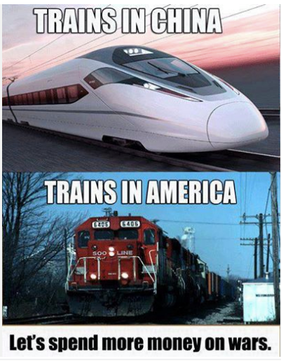 trains china united states