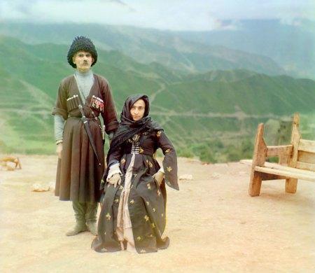 Dagestani couple in the Caucasus (1904)