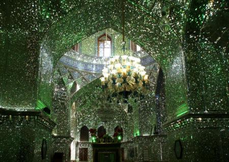 Interior of Shah Cheragh mosque in Shiraz, Iran