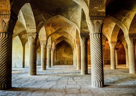 Prayer hall of Vaki mosques in Shiraz, Iran