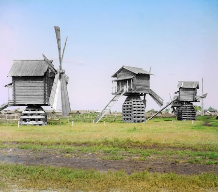 Windmills in Tobolsk province (1912)