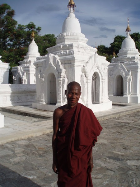 Kuthadow Pagoda complex is tended by Buddhist monks
