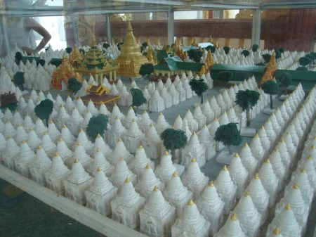 Scale model of Kuthadow Pagoda complex