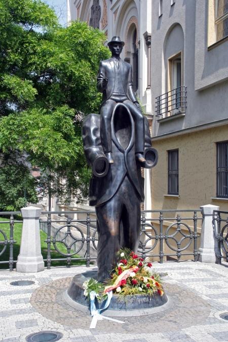 Statue of Franz Kafka, Prague, Czech Republic