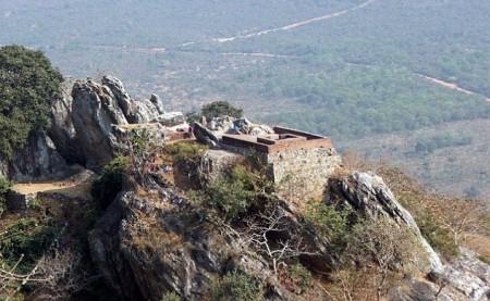 Vultures Peak in Rajagriha, India