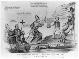 Anti-Catholic cartoon from the 1850s
