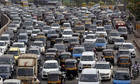 Traffic in Mumbai (formerly Bombay)