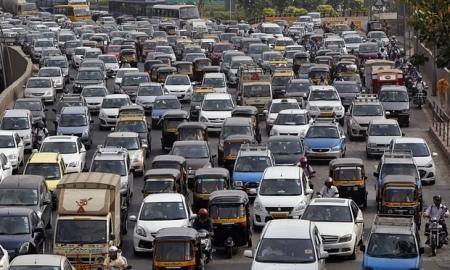Traffic in Mumbai (formerly Bombay)