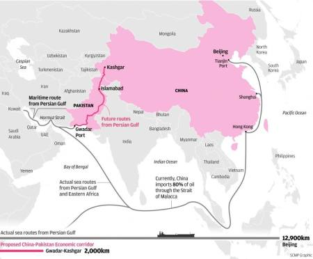 China-Beijing-to-Persian-Gulf-sea-route-vs-Kashgar-Gwadar-CPEC
