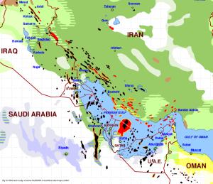 Green indicates Shia predominance