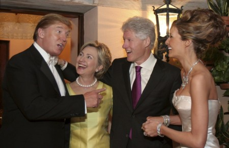 The Clintons at Donald Trump's wedding (2005)