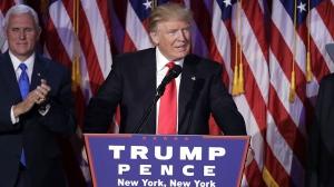 Donald Trump giving victory speech (AP)
