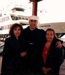 Nate Terani in his Navy days