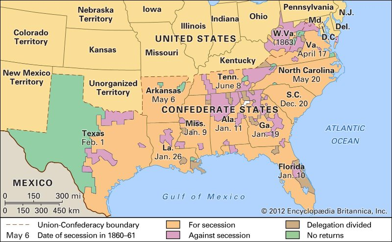 Is The American South A Nation Phil Ebersoles Blog - Secession map of us